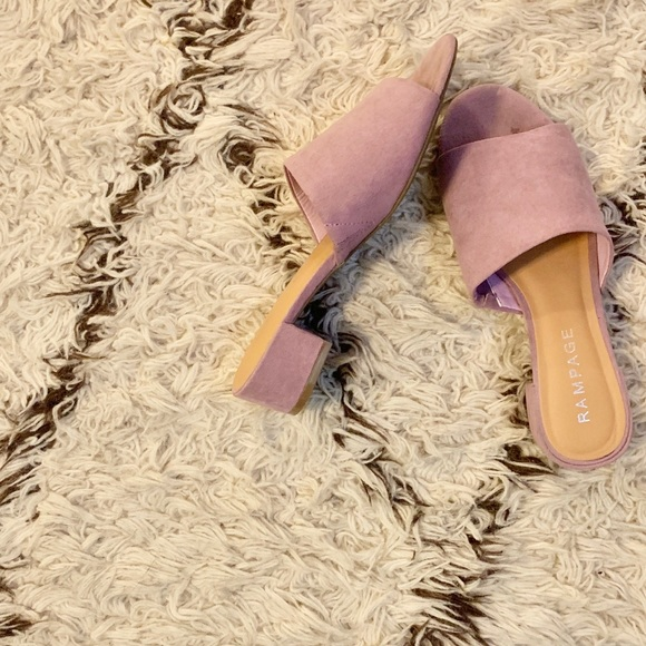 Rampage Shoes   Lavender Low Chunky
